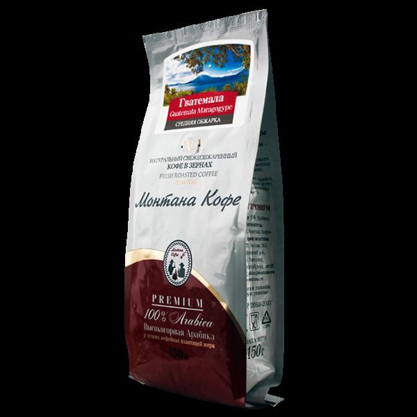 Кофе Монтана Гватемала марагоджип 150 гр (в зернах) Монтана кофе