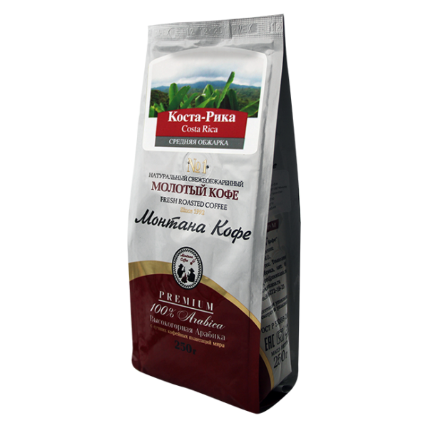 Кофе Монтана Коста-Рика 250 гр (крупный помол) Монтана кофе