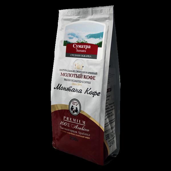 Кофе Монтана Суматра 250 гр (крупный помол) Монтана кофе