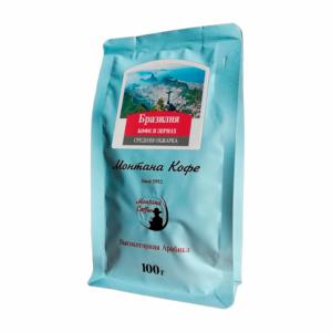 Кофе Montana Бразилия 100 гр зерно м/у
