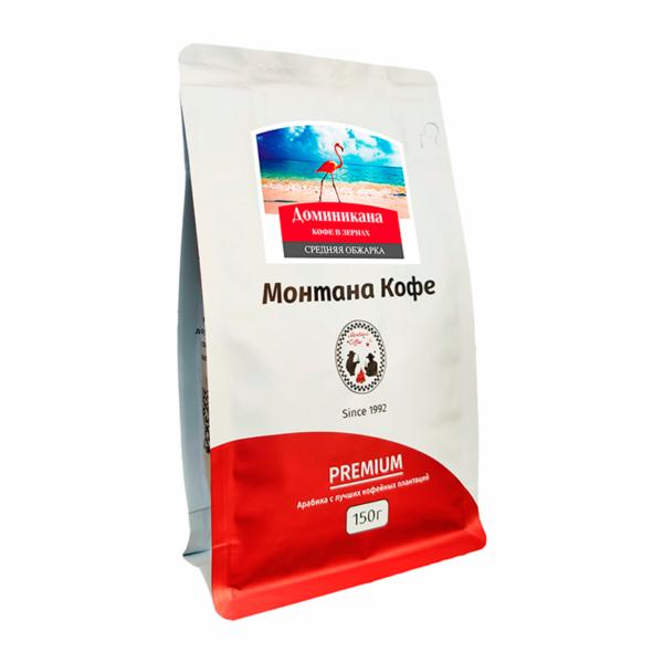 Кофе Montana Доминикана в зернах 150 гр м/у
