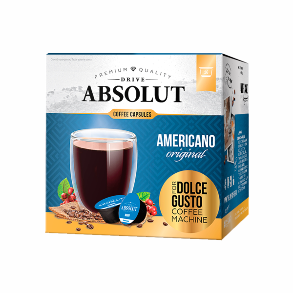 Кофе Absolut Dolce Gusto Американо 16 капсул